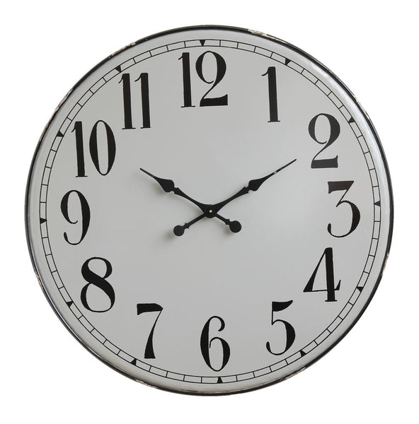 "36"" Rd. Metal Clock - Grey"