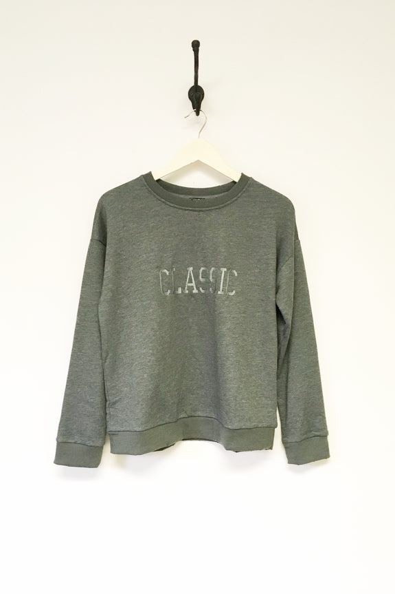 Classic Washed Green Crew Neck Sweatshirt