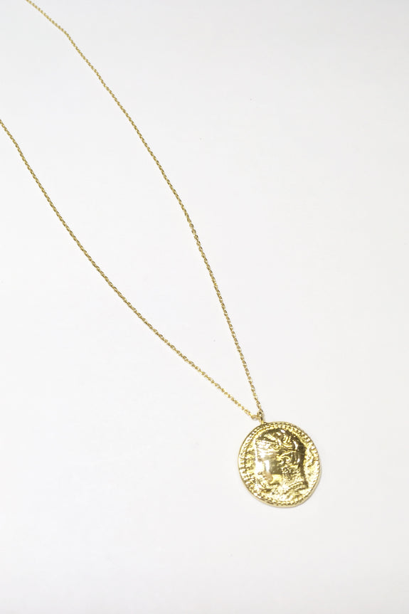 Vintage Coin Necklace Gold