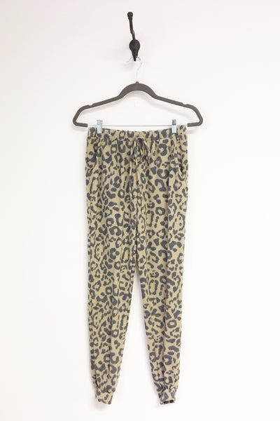 Brushed Leopard Joggers