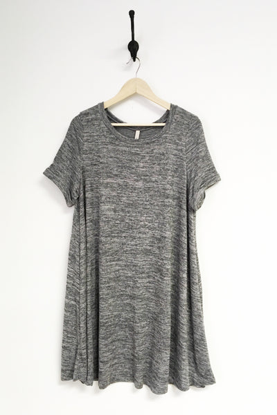 Heathered Grey Knit Dress - Plus