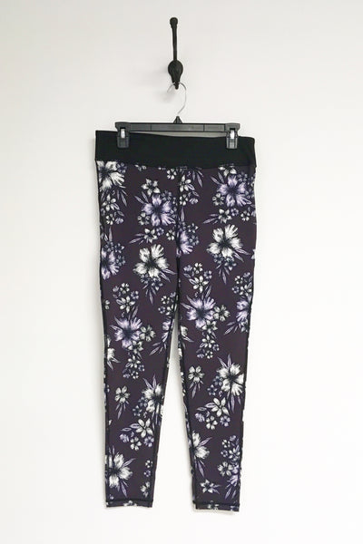 Highwaist Plum Hibiscus Full Legging Plus