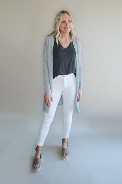 Sam Long Knit Grey Cardigan