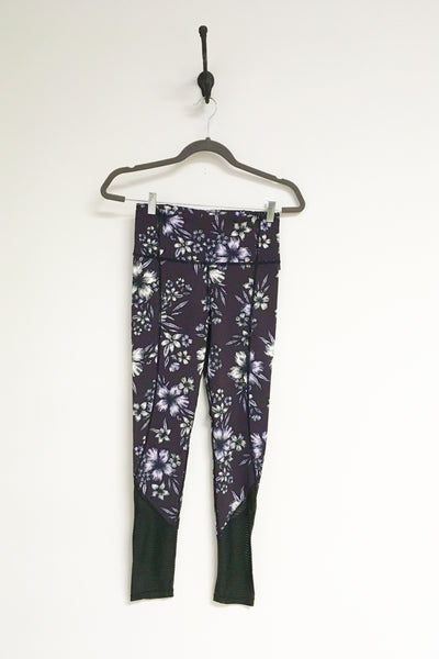 Highwaist Plum Hibiscus Full Leggings