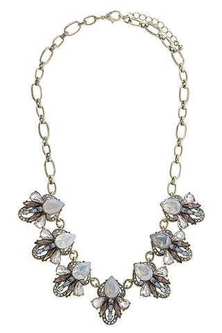 Art Deco Inspired Cluster Bib Necklace