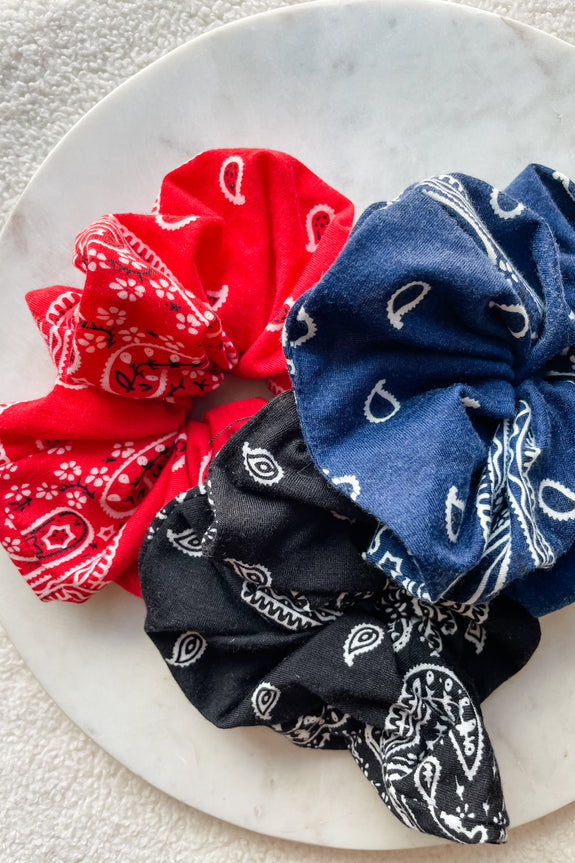Large Bandana Print Scrunchie