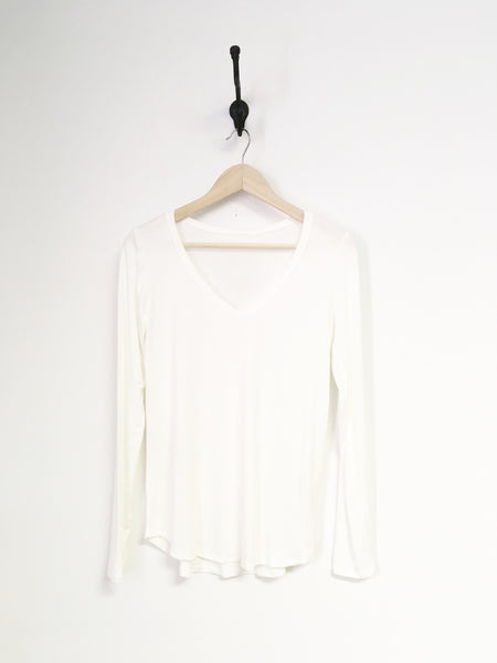 Bamboo Fabric V-Neck Long Sleeve Top