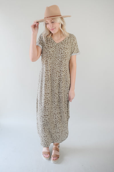 The Cat's Meow T-Shirt Maxi Dress