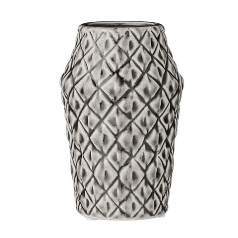 "10"" Cool Grey Ceramic Vase"