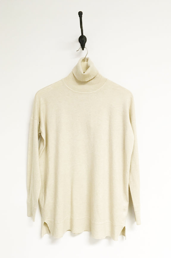 Elaine Oatmeal Turtleneck Sweater