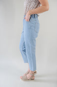 Hallie Elastic High Waist Ankle Jean
