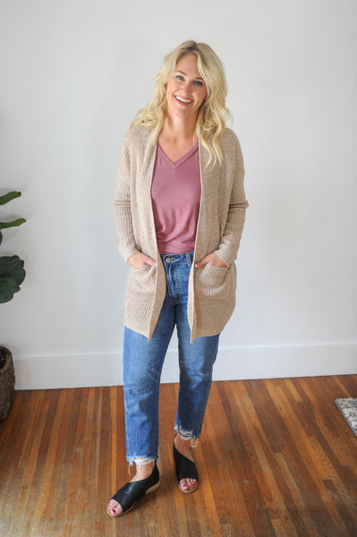 Brelyn Long Knit Cardigan With Pockets