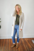 Kelli Long Thermal Knit Cardigan