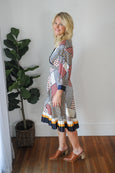 Rosella Patchwork Midi Dress