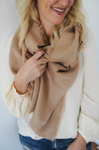 Faux Fur Oblong Scarf