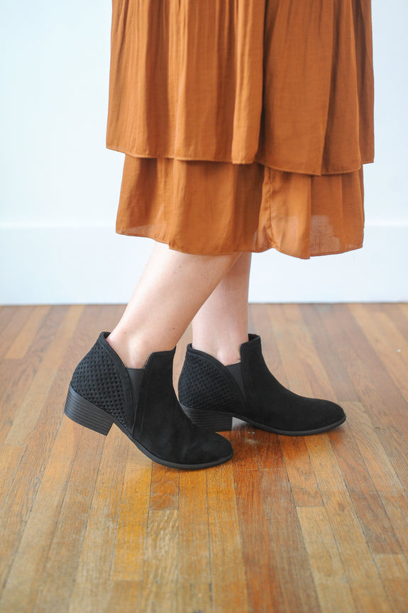 Thea Low Suede Bootie