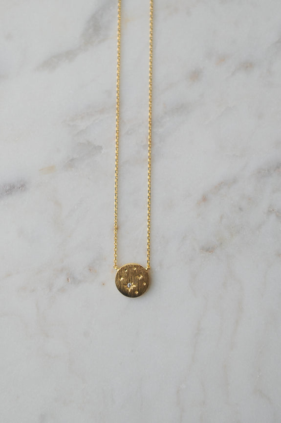 Star Coin Gold Necklace