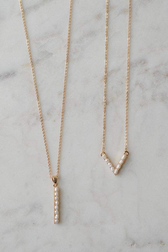 Fresh Water Pearl Gold Necklaces