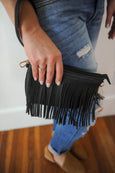 Carrie Fringe Cross Body w/Clutch strap