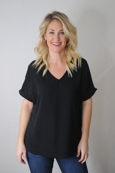 Jane Lightweight Short Sleeve Blouse