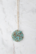 Sally Beaded Pendant Necklace
