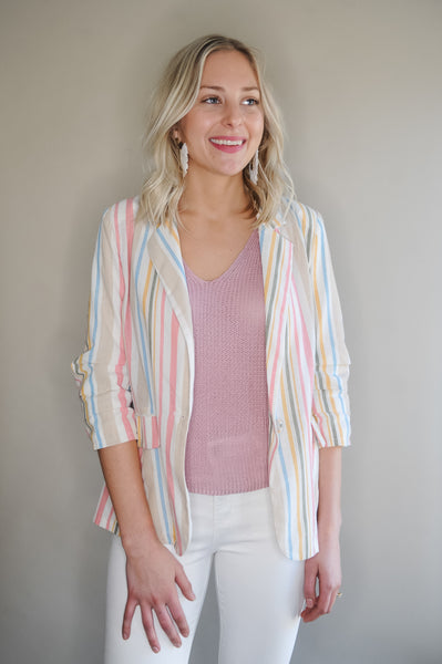 Multi Stripe Blazer