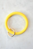 Bright Color Bracelet Keychain Ring