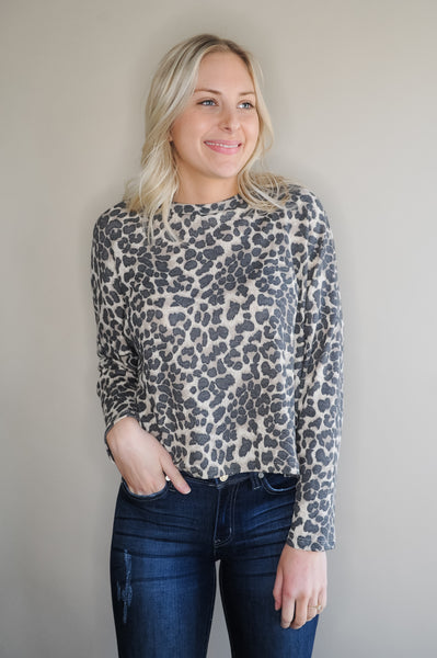 Animal Print Thermal Long Sleeve