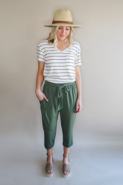 Evelyn Bow Crop Pant