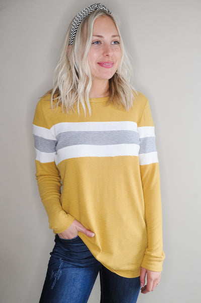 Cody Varsity Stripe Long Sleeve