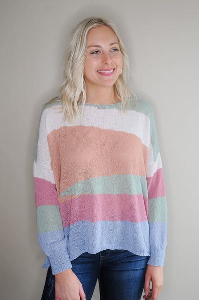 Nia Stripe Lightweight Sweater