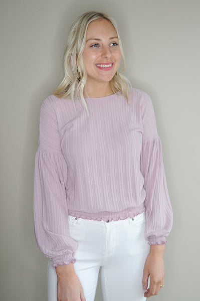 Abigail Banded Bottom Blouse