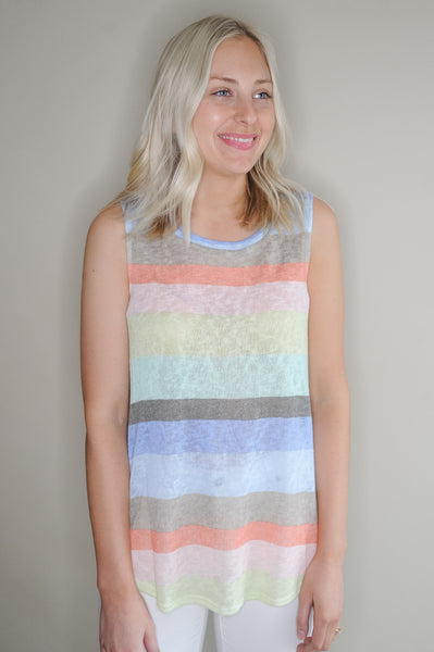 Lala Multi Stripe Knit Tank