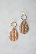 Small Gold Ring Teardrop Earrings