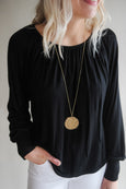 Jackie Knit Black Blouse