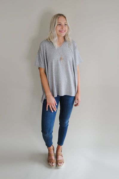 Bailey Short Sleeve Knit Poncho