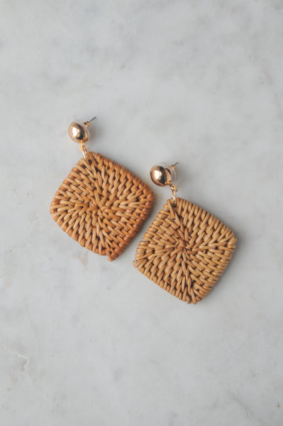 Byron Wicker Earrings