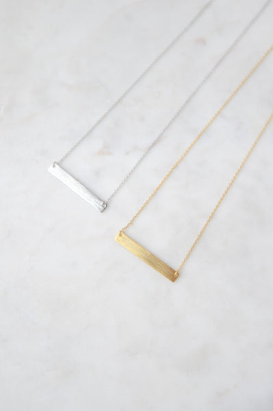 Blank Nametag Necklace