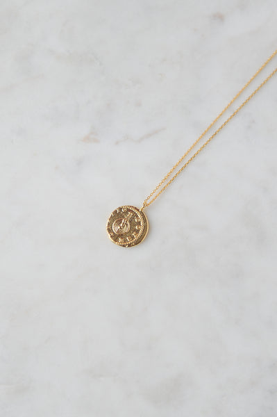 Vintage Gold Coin Necklace