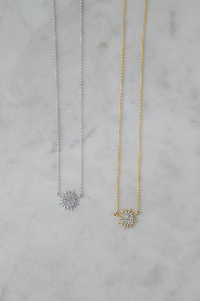 Sun Pave Necklace