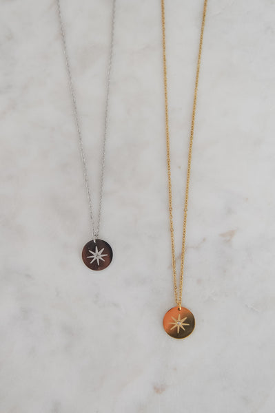 Starburst Coin Charm Necklace