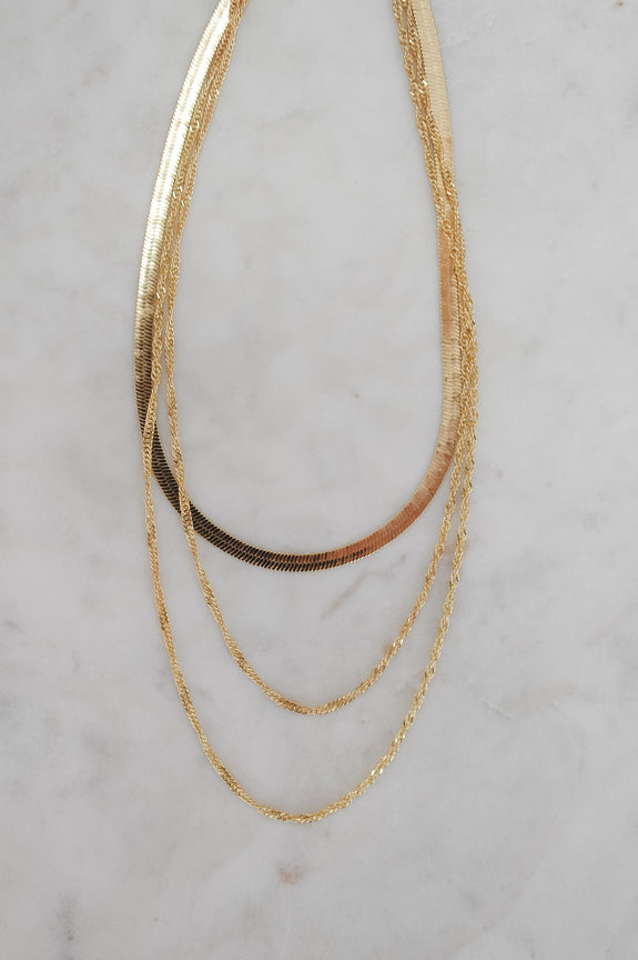 Multi Layer Snake Chain Necklace