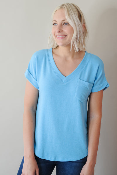 Great Escape V Neck Pocket Tee