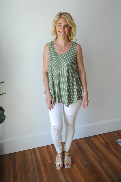 Rory Multi-Directional Stripe Tank