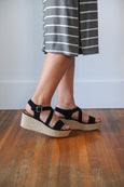 Myra Criss Cross Espadrille Wedge