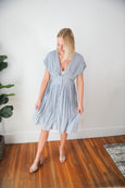 Brie Button Front Flowy Dress