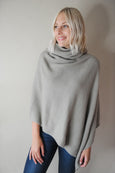 Turtleneck Wrap Poncho