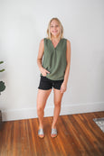 Amanda Sleeveless V-Neck Tank