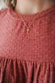 CZ Dainty Cross Necklace