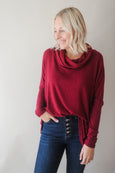 Conor Cowl Neck Long Sleeve Top